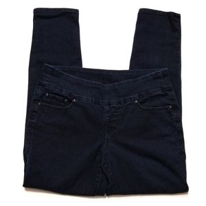 Jag Jeans High Rise Skinny Pull On Darkwash Jeans